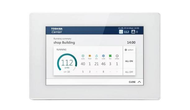 Carrier Introduces New Toshiba Carrier VRF Touchscreen Controller