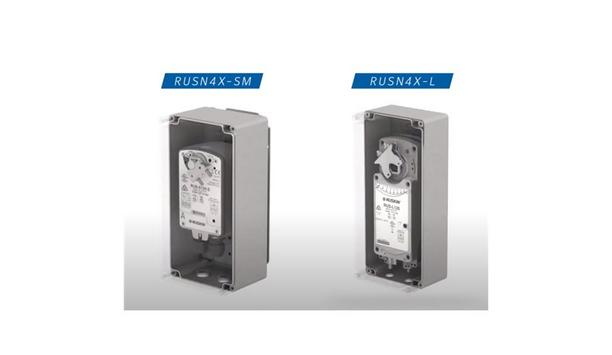 Ruskin Announces New RUSN4X-SM And RUSN4X-L NEMA 4X Actuator Weather Enclosure