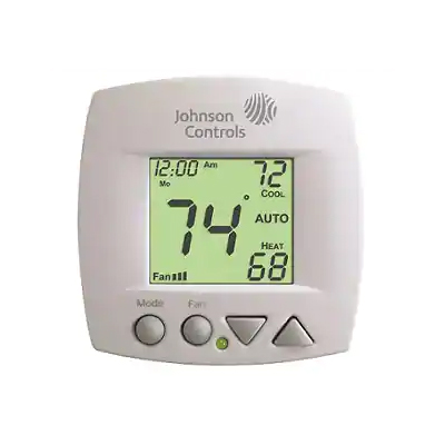Johnson Controls T701DFP-4 Programmable Digital Room Thermostat For Fan Coil Units