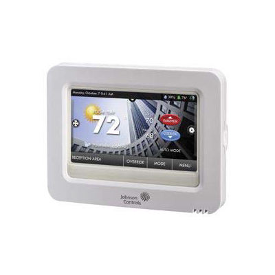Johnson Controls T9100 High-Resolution Color Touch Screen Digital Room Thermostat With Integral Skyport™ Cloud Services Wi-Fi