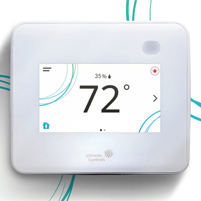 Johnson Controls TEC3631 Full-color, Backlit Touchscreen Thermostat